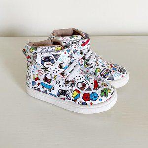 NEW Monkey Feet Boys Rule Leather High Top Sneaker